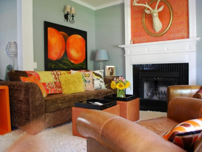 Colores cálidos en decoración