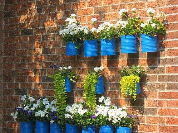 Balcones peque os y modernos 60 fotos e ideas de decoraci n - Maceteros colgantes para balcones ...