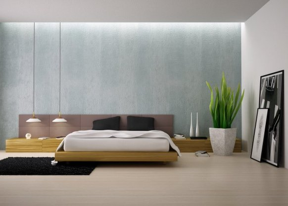 modern-bedroom-with-plants-582x416