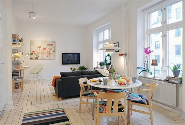 Sal n comedor unido 30 fotos e ideas de decoraci n - Decoracion pisos modernos ...