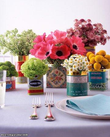 Centros De Mesa 40 Ideas Y Fotos Brico Y Deco - Centros-de-mesa-de-flores-naturales