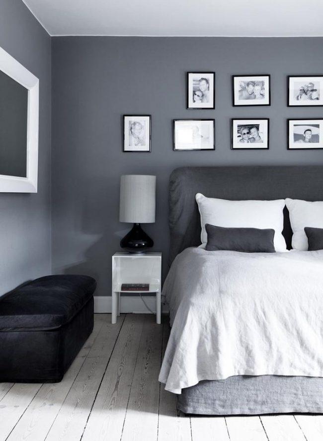 tonos grises para decorar una habitación con cuadros