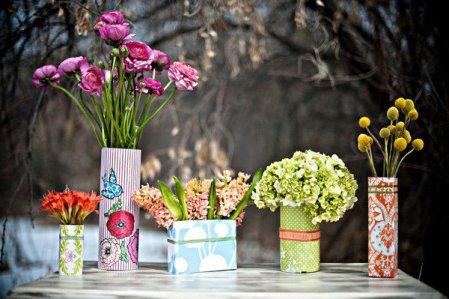 slo necesitas algunos materiales y y podrs crear floreros lindos para decorar tu hogar una mesa una estantera o simplemente para regalar