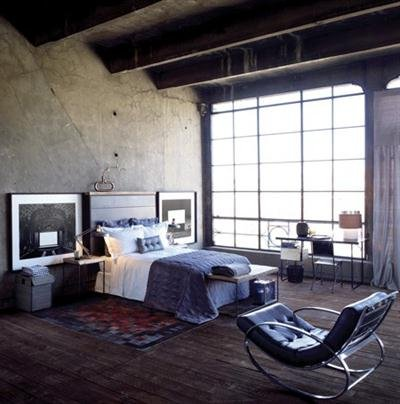 Decoraci n industrial 40 fotos de interiores y decoraci n for Habitacion decoracion industrial