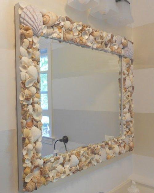 Decoraci n de espejos 3 ideas f ciles y bonitas - Hacer marcos para espejos ...