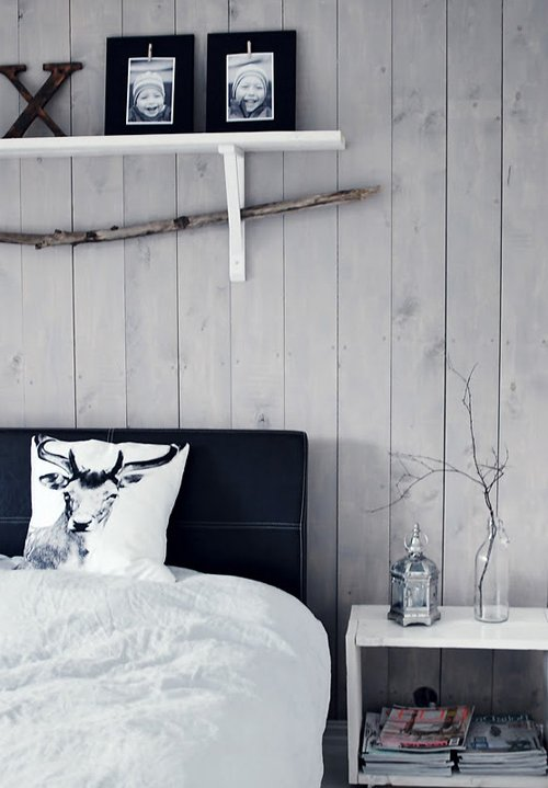 decoración nórdica con blanco y negro