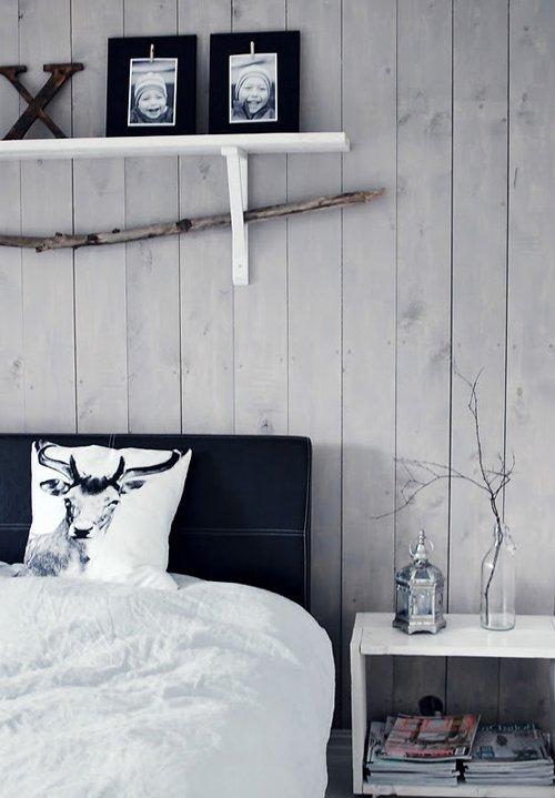 decoración nórdica con blanco y negro