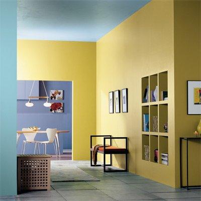 Colores para habitaciones peque as 30 fotos y consejos - Combina colores en paredes ...