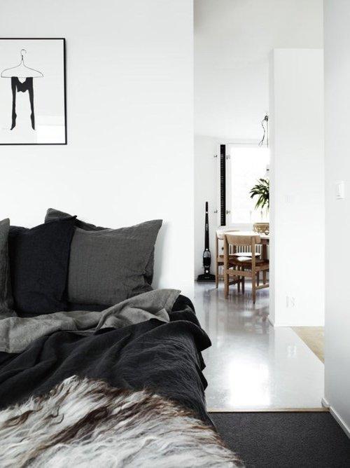 estilo escandinavo en blanco y negro