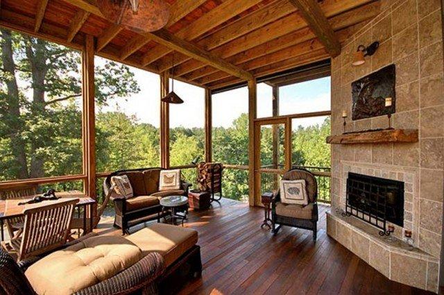 Interiores de casas r sticas 40 fotos de dise o y for Casas rusticas de ladrillo