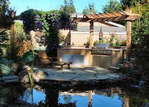 Dise o de jardines y patios 160 fotos e ideas modernas y - Jardines con barbacoa ...