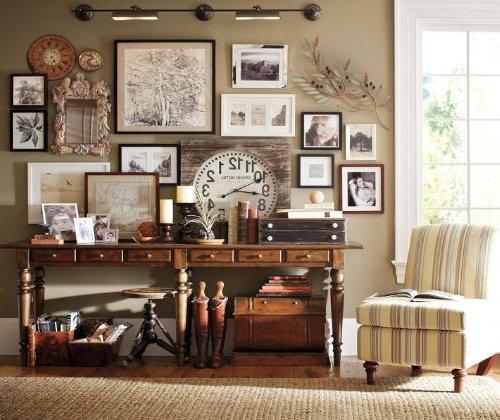 Decorar paredes con fotos 20 im genes e ideas - Decoracion paredes vintage ...