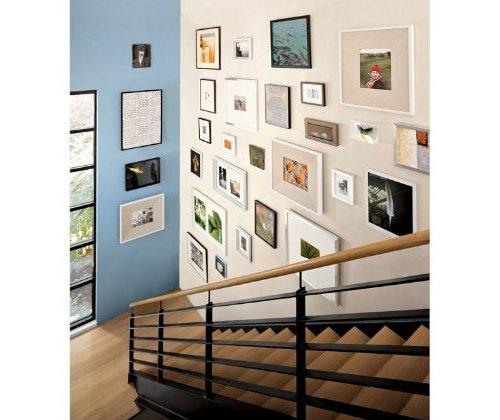 la siguiente posibilidad ofrece una tendencia similar que a su vez agrega cuadros con marco marrn y mrgenes en beige dos colores que junto con el negro