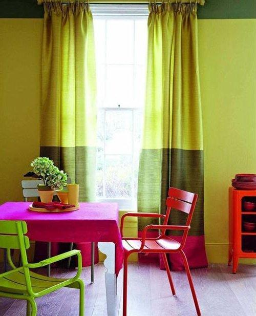 Casas coloridas fachadas e interiores con colores - Combinacion de dos colores para interiores ...