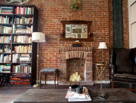 Interiores de casas r sticas 40 fotos de dise o y decoraci n - Ladrillo decorativo interior ...