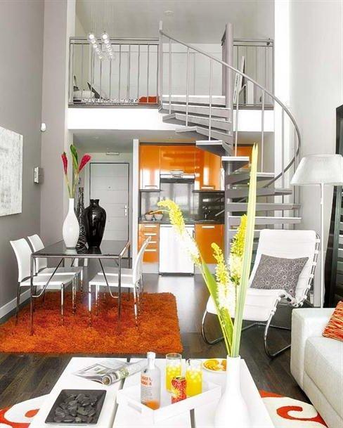 Pisos peque os 40 fotos modernas e ideas de dise o y - Diseno pisos pequenos ...