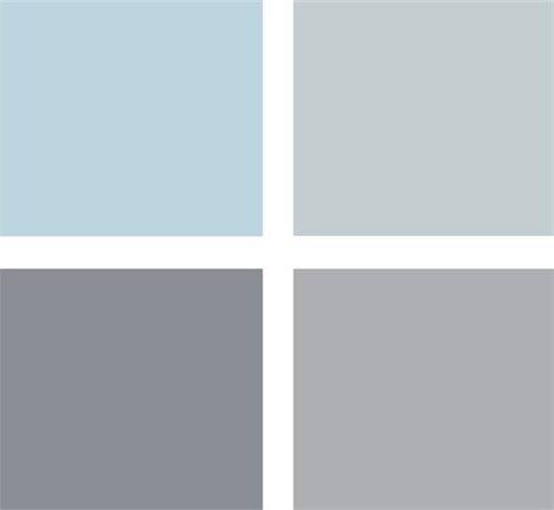 paleta celeste y gris