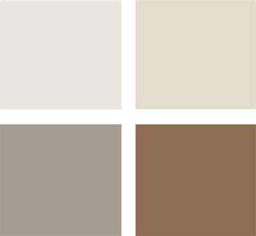 paleta gris, beige y marrón