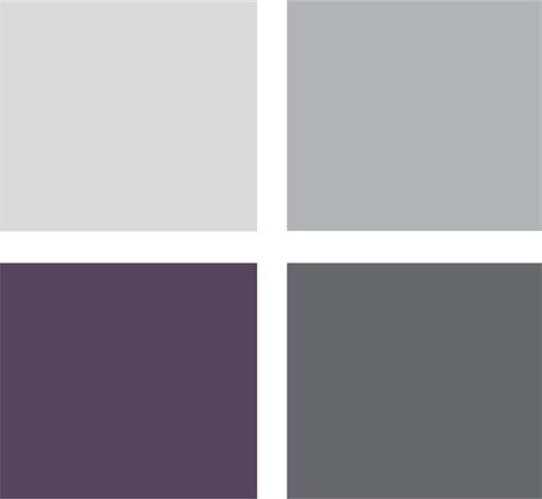 paleta grises y morado