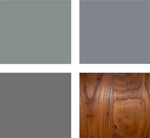 grises y madera