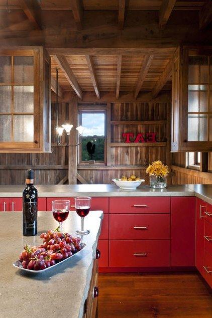 Colores para cocinas 2017 70 fotos y tendencias modernas for Cocinas rusticas de madera