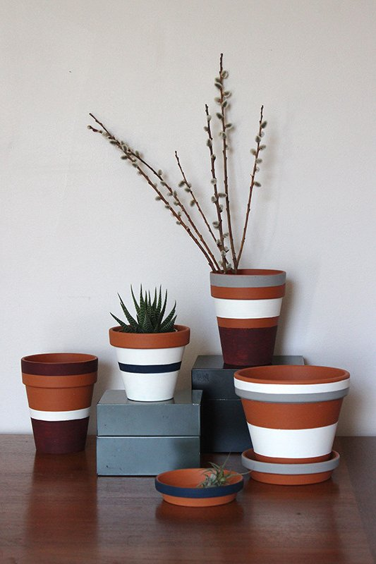 Macetas decoradas 5 ideas f ciles y baratas para hacer en casa brico y deco - Macetas para pared ...