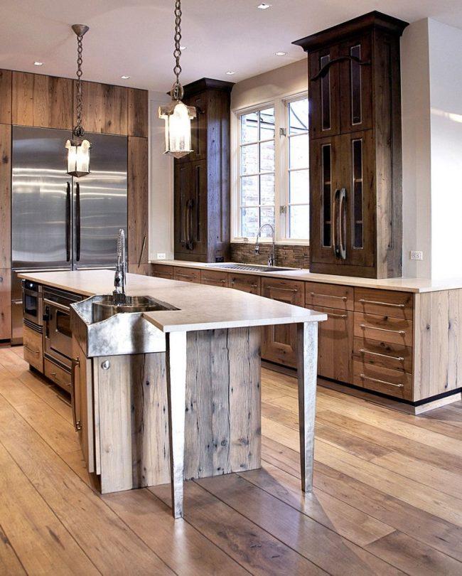 maderas naturales recicladas en muebles y suelos