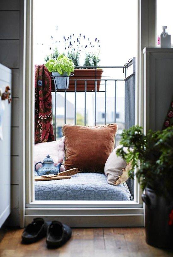 Balcones peque os y modernos 60 fotos e ideas de for Muebles para balcon pequeno