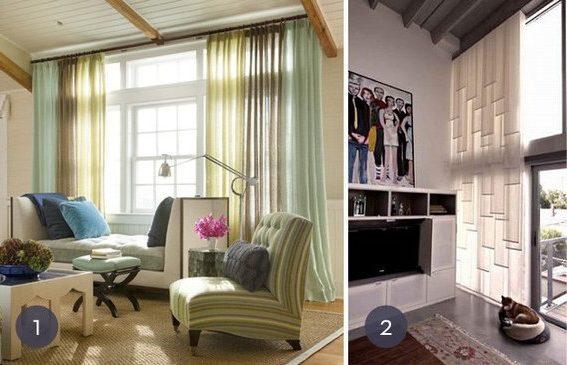 20 modelos de cortinas de tela baratas y sencillas - Cortinas opacas baratas ...