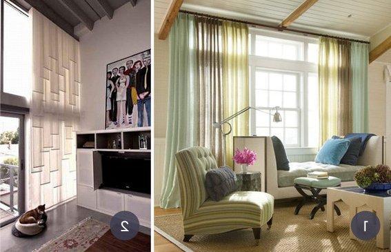Cortinas De Baño Hechas A Mano:también vemos dos capas de cortinas, y las dos son opacas, pero de