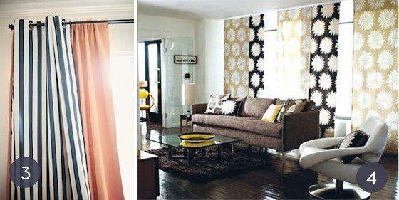 20 modelos de cortinas de tela baratas y sencillas brico - Cortinas opacas baratas ...