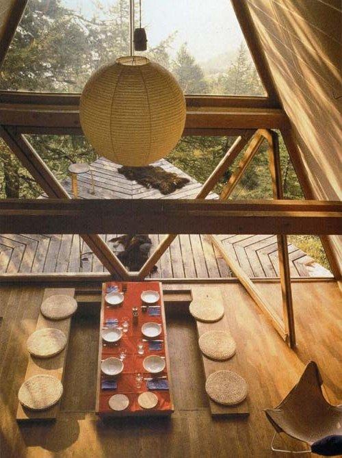 Comedor decoración Zen minimalista, rústico y acojedor