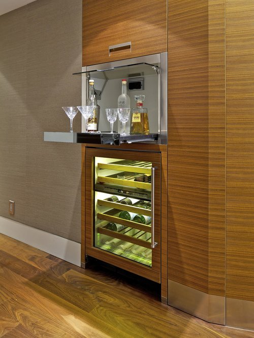 Mini bar en madera o metal 30 ideas para el hogar brico for Bares pequenos de madera