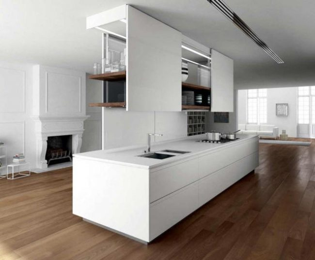45 cocinas minimalistas modernas 2018 fotos de decoraci n for Diseno de cocinas minimalista