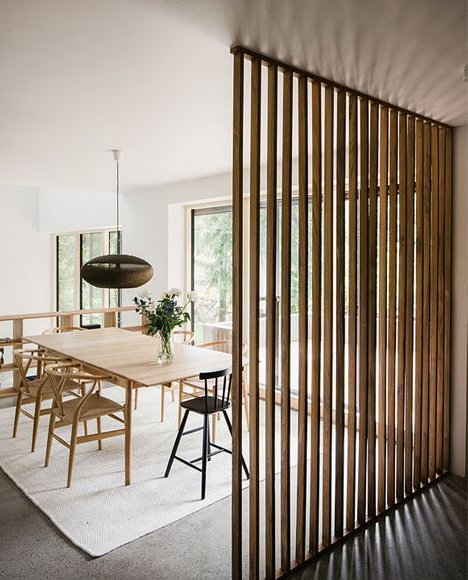 Wood Slat Wall Living Room