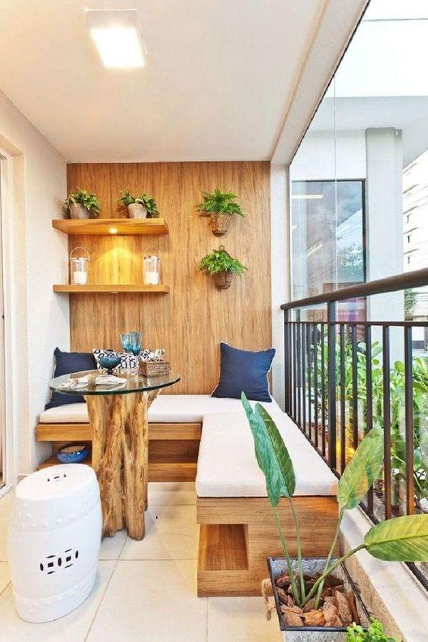 Balcones peque os y modernos 60 fotos e ideas de decoraci n - Muebles para balcon pequeno ...