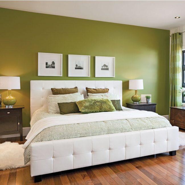 paredes verdes 60 fotos de dormitorios salones y comedores modernos brico y deco. Black Bedroom Furniture Sets. Home Design Ideas