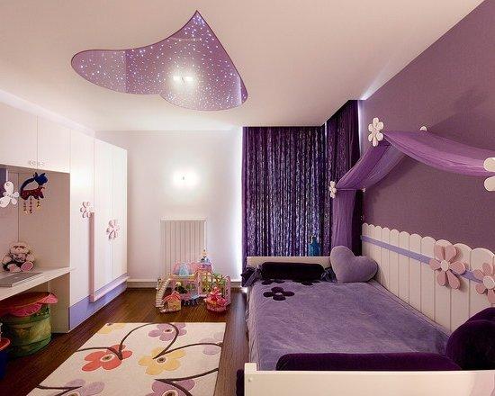 Como decorar un cuarto de una adolescente en color morado for Como decorar un cuarto infantil
