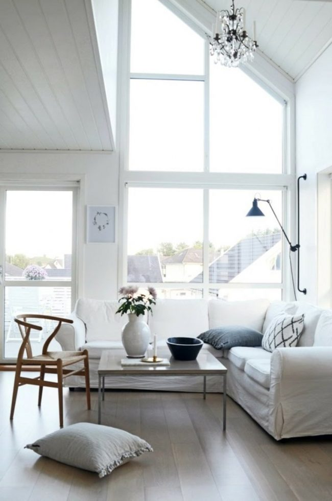 Salones blancos 40 fotos e ideas de decoraci n para - Salones en tonos grises ...