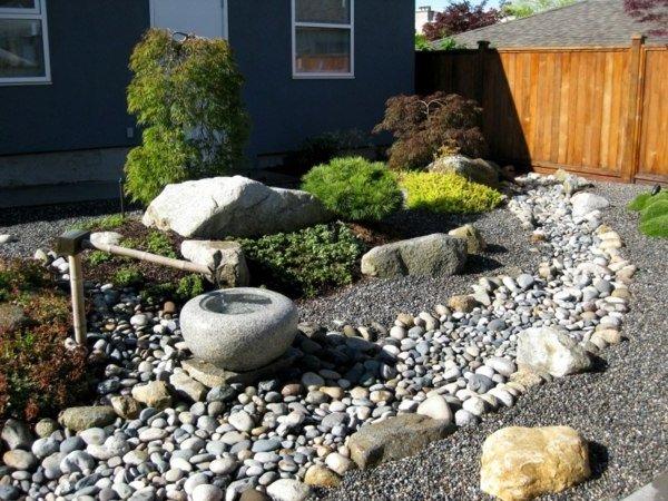 Jardines con piedras 45 fotos y sugerencias para su dise o - Jardines modernos con piedras ...