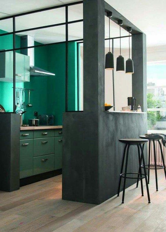Cocinas verdes modernas 35 fotos e ideas de diferentes tonalidades ...