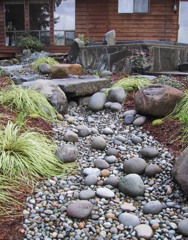 Jardines con piedras 45 fotos y sugerencias para su dise o for Piedra volcanica para jardin