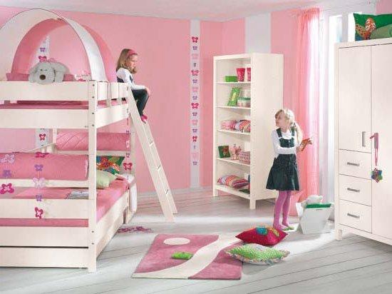 Dormitorios infantiles 60 fotos e ideas modernas de for Habitaciones para 2 ninas