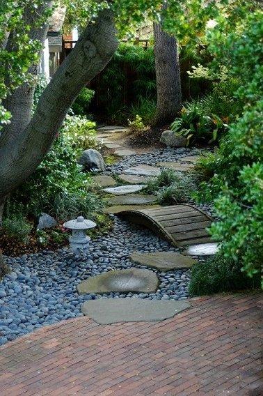 Jardines con piedras 45 fotos y sugerencias para su dise o y decoraci n brico y deco - Como decorar jardines con piedras ...