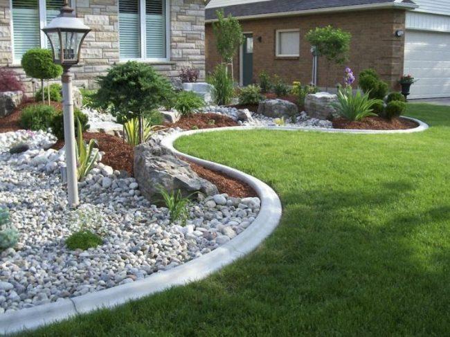 Jardines con piedras 45 fotos y sugerencias para su dise o - Plantas para arriates ...