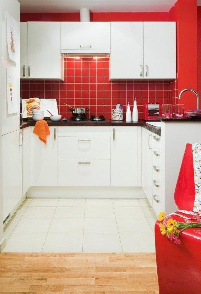 Cocinas blancas 70 fotos inspiradoras e ideas de decoraci n - Cocinas rojas y blancas ...