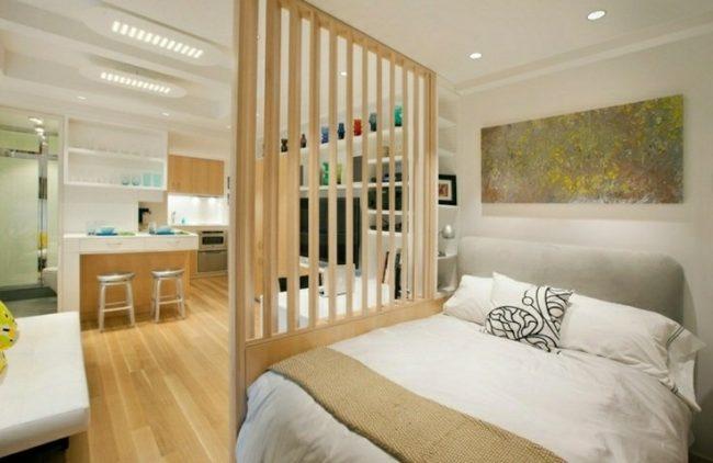Separadores de ambientes 45 ideas modernas y bonitas - Muebles separadores de espacios ...
