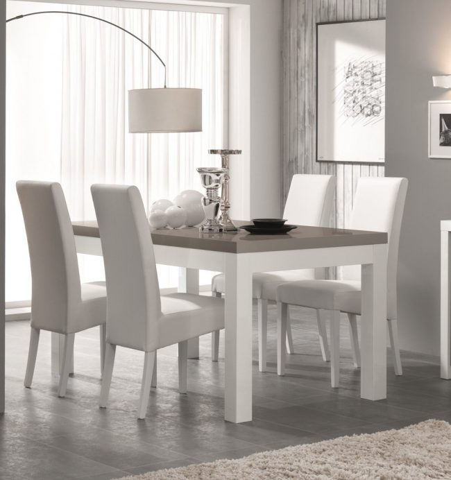 Modern white dining set - comedor moderno en blanco | 3D Warehouse