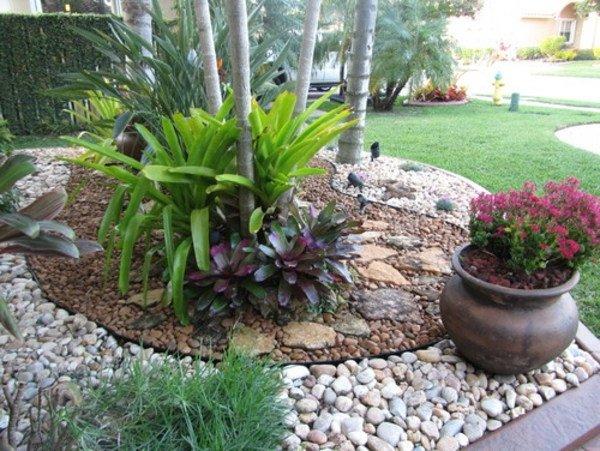 Jardines con piedras 45 fotos y sugerencias para su dise o - Como decorar jardines con piedras ...