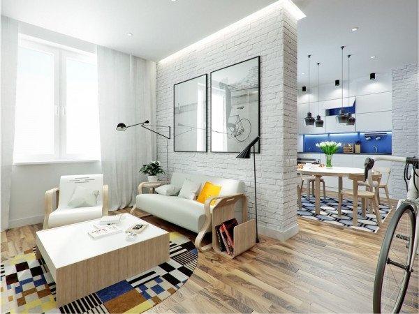 Pisos peque os 40 fotos modernas e ideas de dise o y for Como decorar departamentos pequenos con poco dinero